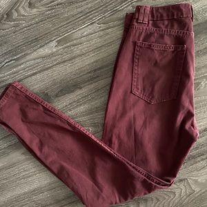 American Apparel High Waisted Zipper Jeans